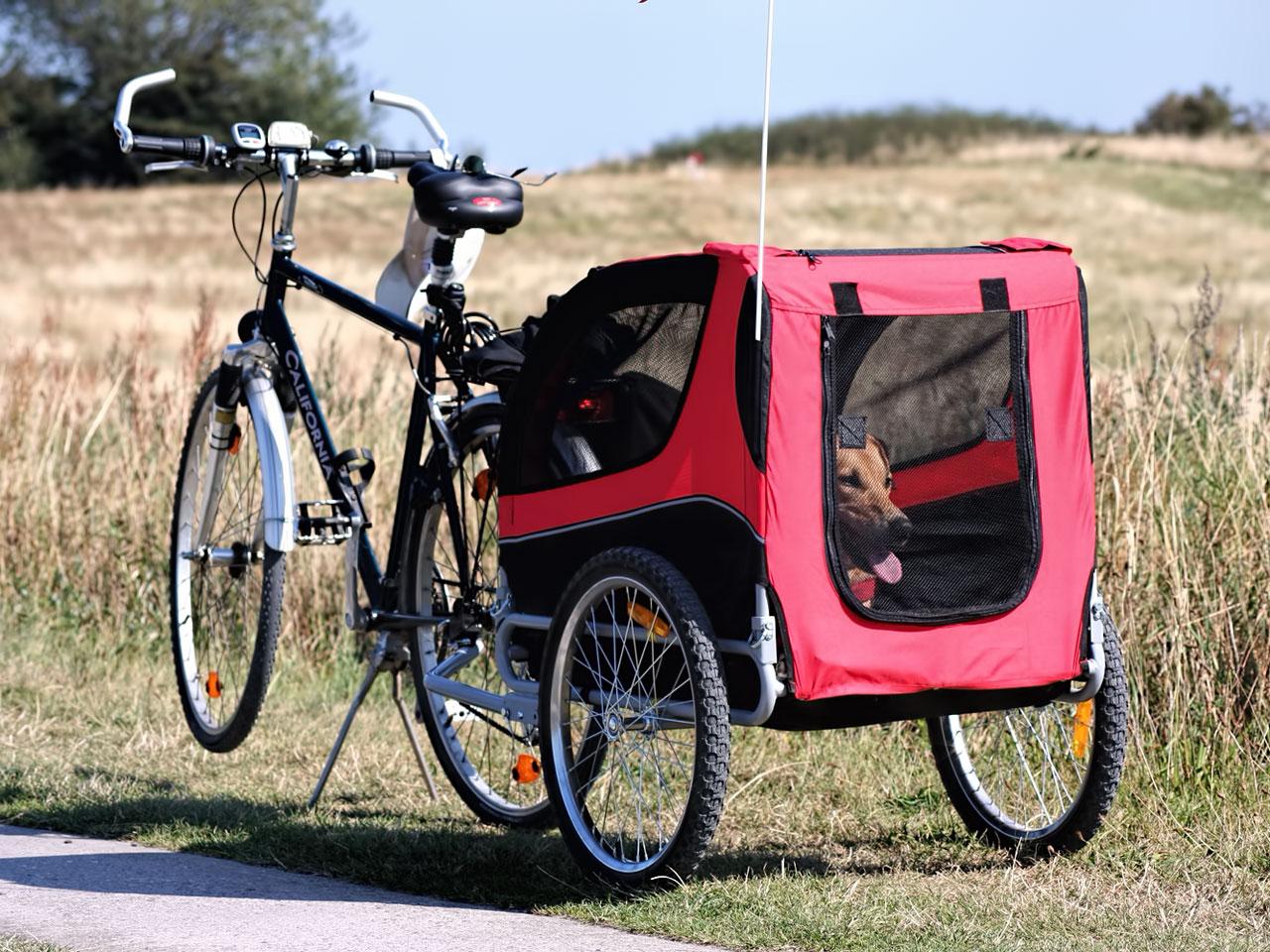 Hundeanhänger für fahrrad